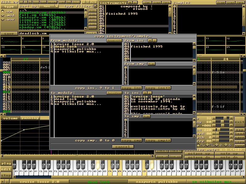 MilkyTracker screenshot