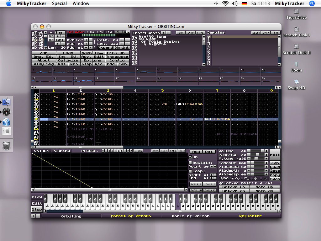MilkyTracker for Mac screenshot